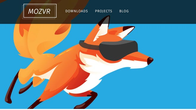 A screenshot of the Mozilla Virtual Reality beta website from July 2015.
