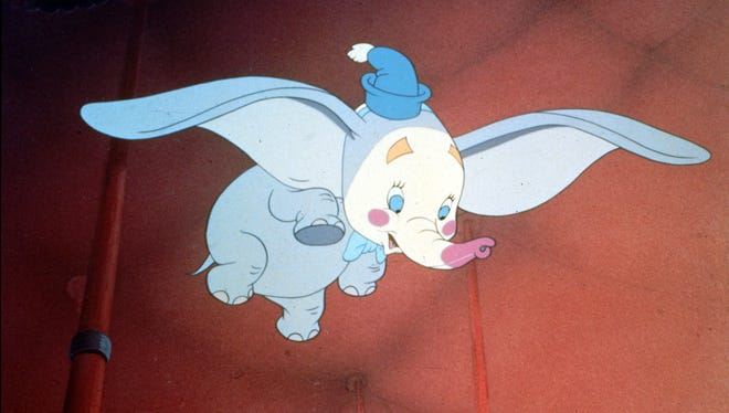 "The big-eared elephant from 1941's ""Dumbo"" is flying again, this time under the direction of Tim Burton."