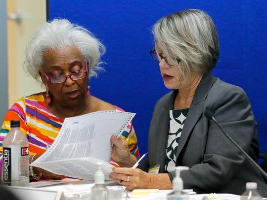 Dr. Brenda Snipes, left, Broward County Supervisor