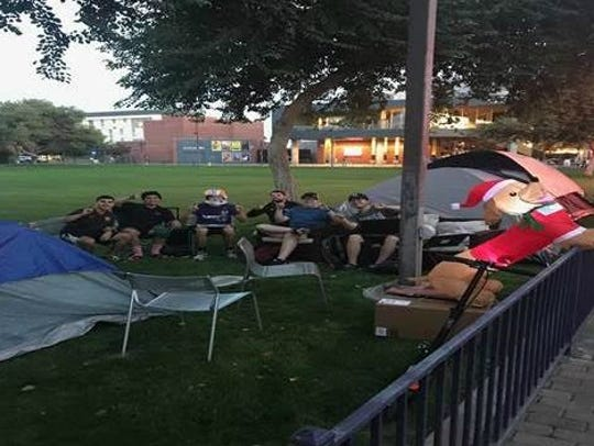 Students at GCU camp out for tickets to the upcoming