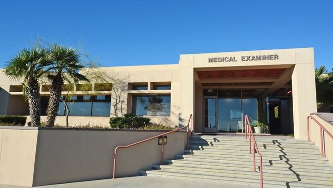 This photograph shows an entrance to the Ventura County Medical Examiner's Office in Ventura.