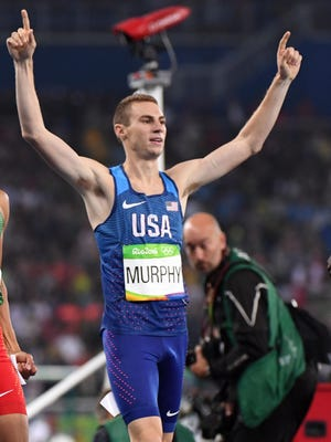 Clayton Murphy takes bronze in the 800 in the Rio Olympics.