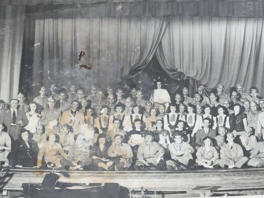 An undated photo recovered from the Levoy Theatre in