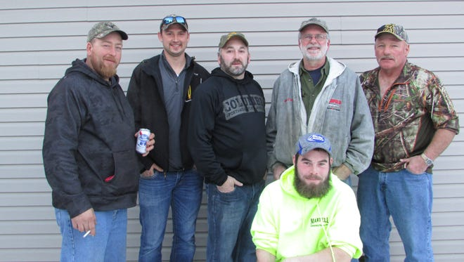 Mishicot Sportsmen's Club recently held their statewide fishing derby. Top category winners included: Mike Theyerl — Perch and Whitefish, Jason Stangel — Crappie, Skip Duellman — Brown Trout, Bradley Bamgart — Rainbow Trout, Tony Loeh — Walleye and Northern Pike, Joe Schmidt — Largemouth Bass (missing in photo is Troy Young — Bluegill).