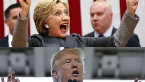 Trump, Clinton win big.