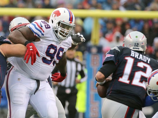 Due to suspension and injury, Marcell Dareus played