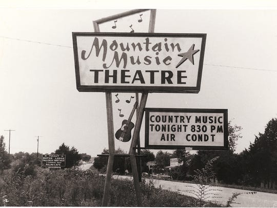 An undated photo shows an early sign advertising the