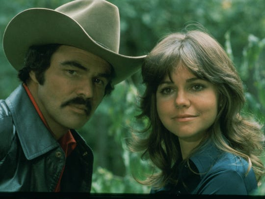 The Bandit (Burt Reynolds) and his partner in crime (Sally Field) in 'Smokey and the Bandit.'