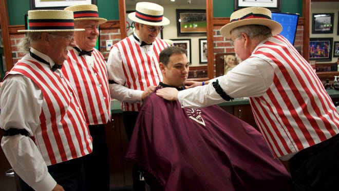 The barbershop quartet Twisted Mustache will be among the highlights of the 10th anniversary celebration of A Cut Above in East Brunswick.