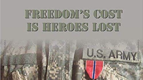 """""""Freedom's Cost is Heroes Lost"""" by Lansing area author D. S. Taylor"""