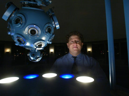Kevin Conod runs the planetarium at the Newark Museum.