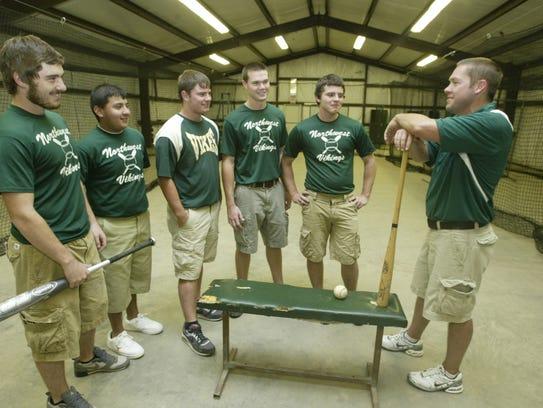 Northwest High School baseball team members Bubba Schepis,