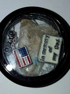 A small memento Missy Katz found at the Valley Honda Monday night.