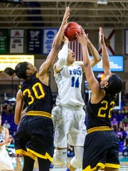 FGCU's Whitney Knight goes us strong on Bethune-Cookman