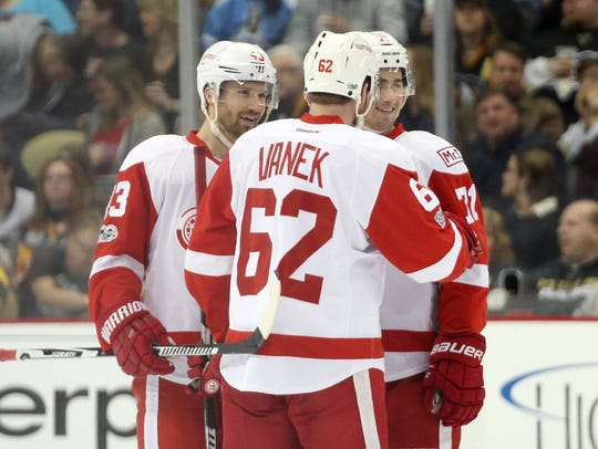 The Red Wings might look at patching their lineup by re-signing Thomas Vanek, a regular 20-goal scorer.