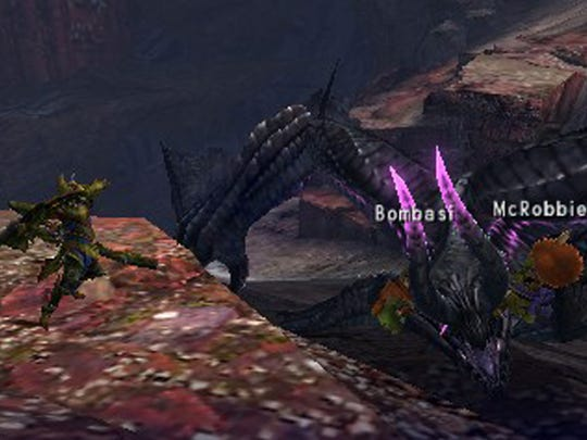 """You can hunt with your own cat helpers or other players in  """"Monster Hunter 4 Ultimate."""""""