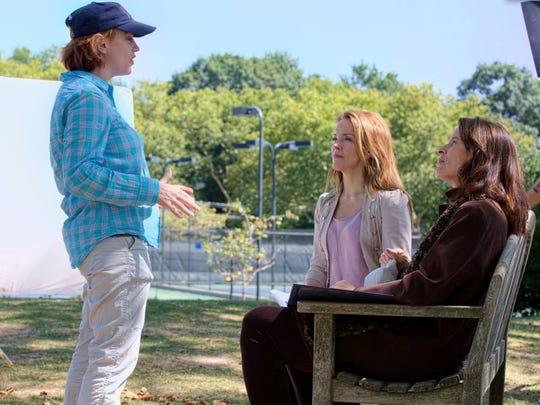Director Shari Berman (from left) speaks with Alice