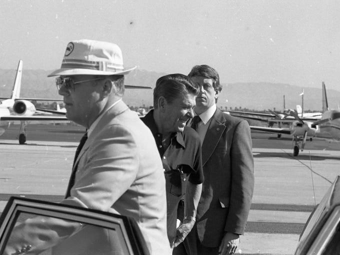 President Ronald Reagan at Palm Springs International