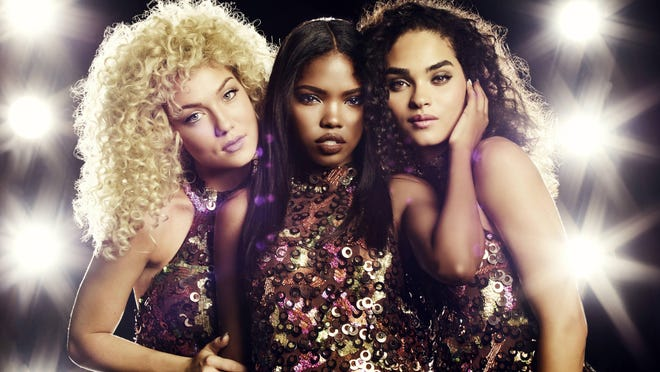 "Jude Demorest (from left), Ryan Destiny and Brittany O'Grady portray the rising girl group at the heart of ""Star,"" airing Wednesdays on Fox."