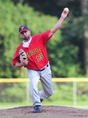 Troy Brohawn, shown here throwing for the Perdue Chicks, was named as the new Salisbury University baseball coach Wednesday.