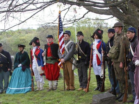 Members of the Hartland High School History Club dressed