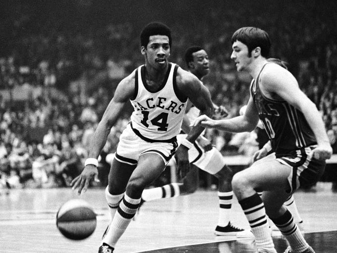 2/9/1970 Pacers vs. Kentucky. Indiana Pacer Freddie Lewis (14)