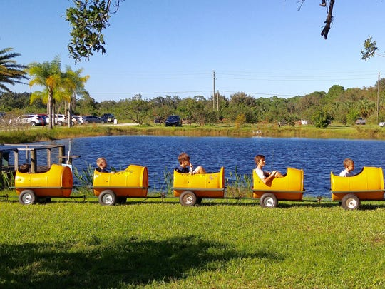 The kiddie train is one of the most popular activities for children at the Countryside Corn Maze.