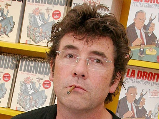 French caricaturist Bernard Verlhac, aka Tignous, attends a book signing in 2010.