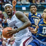 MIssissippi State forward Gavin Ware (20) drives against Northern Colorado during the game held in the Jackson Colisseum Wednesday December 21, 2015. (Bob Smith-For the Clarion Ledger)