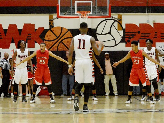 South Side's Chris McNeal dribbles up the court during Friday night's game against Lexington High School.