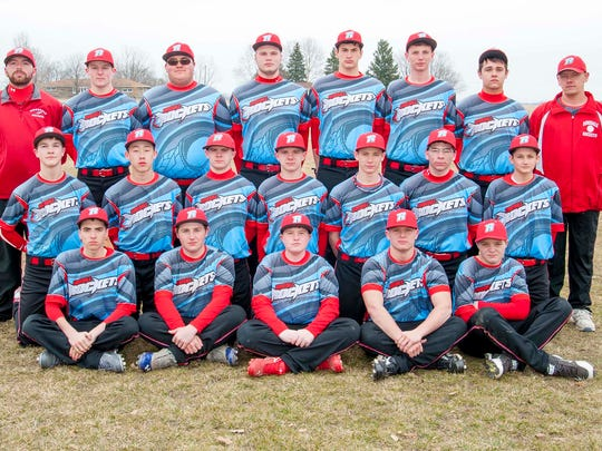 The Ridgedale 2015 varsity baseball team is, front
