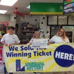 Cashier Denise Gill, Manager Lisa Dearman and Cashier Barbara Joe Glass were ecstatic when they learned their store, Fair City Truck Stop in Franklinton, sold a $1 million winning Powerball ticket for the Jan. 13 drawing.