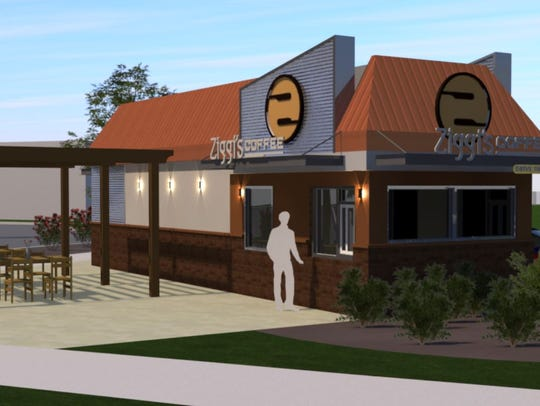 This rendering shows the proposed look of the Ziggi's