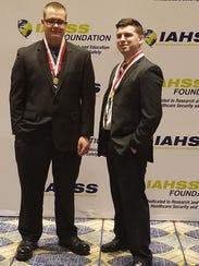 Officers David Walker and Brandon Janeski at the annual