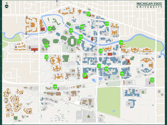 Msu Parking Map MSU moving mopeds to make way for bikes
