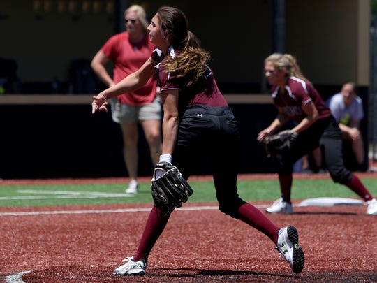 Jade Guzman has five pitches that she throws, including a changeup and curve that are tough to hit when she's on.