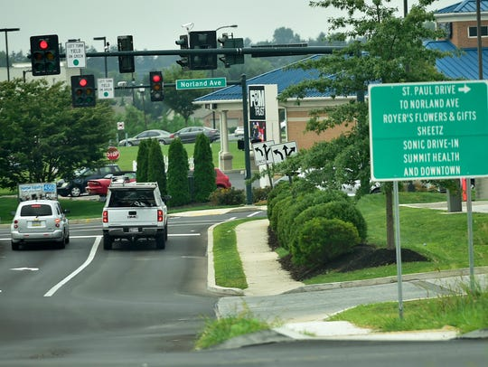 The extension of Parkwood Drive, Chambersburg, opened to traffic on Aug. 14, 2017. It runs between Sheetz and the rear of Target and connects Norland Avenue to the intersection of Kohler/Grand Point/Woodstock roads in Greene Township.