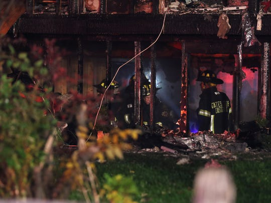 A fire destroys a home at 522 Elmgrove Road.  Two were taken to the hospital with injuries not considered life threatening.