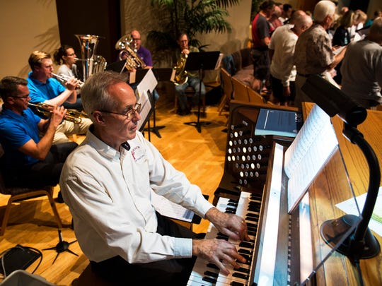 Organist Jonathan Birner, who also serves as Music Director at Grace Lutheran Church, rehearses with choir members for the 500th Anniversary Reformation Hymn Festival at Hope Lutheran Church in Bonita Springs on Thursday, Oct. 26, 2017. Sunday Oct. 31 marks the 500th anniversary of Martin Luther nailing the Ninety-five Theses on a Catholic church, which began the Reformation and profoundly changed Europe.
