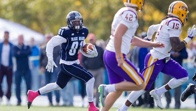 Earnest Edwards racked up 190 yards total offense in Maine's 20-16 upset of Albany on Saturday in Orono, Maine.