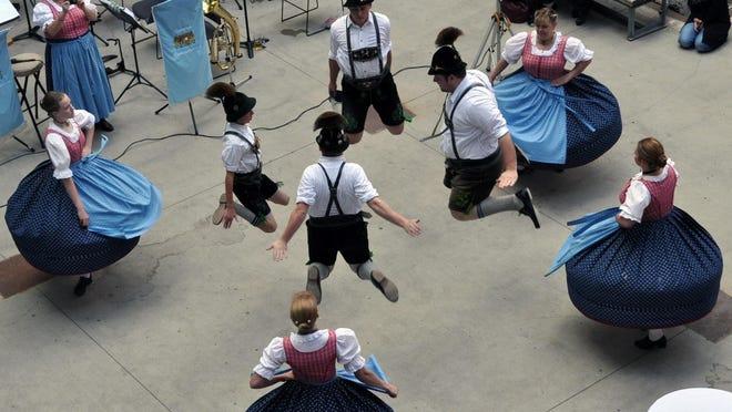 German dancers set the scene at a previous Mill City Museum Oktoberfest.
