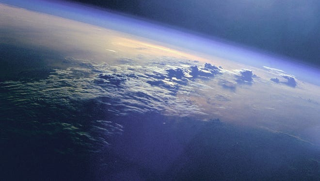 Earth and clouds.