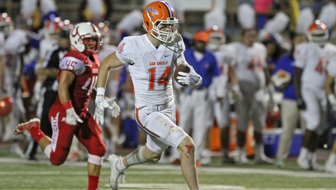 San Angelo Central's Henry Teeter hauled in a 71-yard touchdown pass from Maverick McIvor in the second quarter to jump-start the Bobcats' rally from a 20-3 deficit Friday at Odessa High.