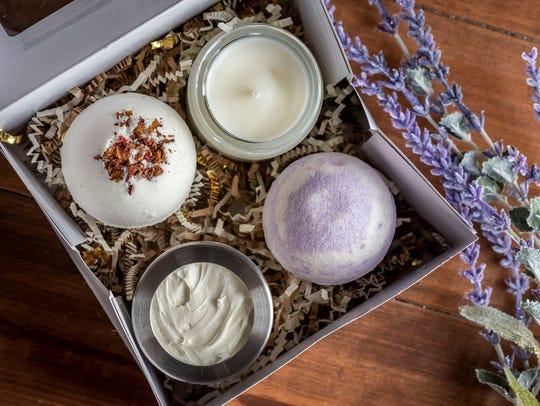 Bath products made by Juniper Bath & Body.