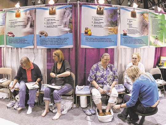 Visitors to the Nevada Women's Expo in 2011 try out a foot bath. The 2015 expo is March 28-29.
