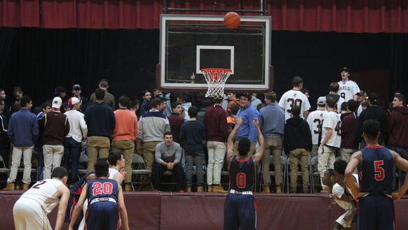 Iona Prep fans turn their backs as Stepinac's Jorden