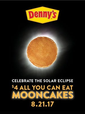 Denny's is celebrating the solar eclipse with a pancake deal.