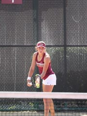 In singles play, FSU freshman Petra Hule carries the