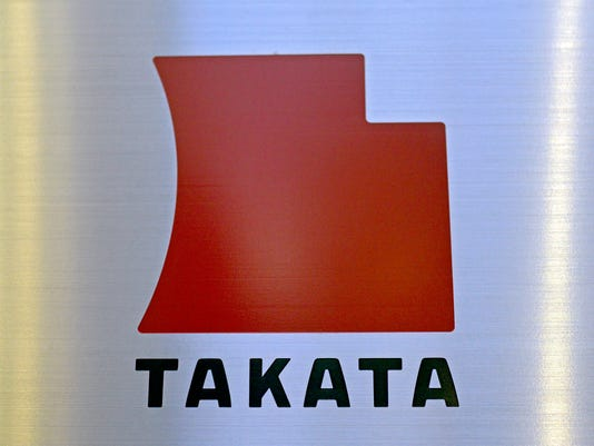 Logo for Japanese airbag supplier Takata