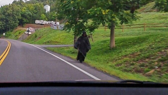 The 'woman in black' spotted in Romney, West Virginia.